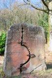 Monument för återföreningen av Öst- och Västtyskland Arkivfoto