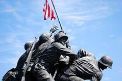 monument för 2 Iwo Jima Arkivbild