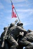 monument för 3 Iwo Jima Arkivfoton