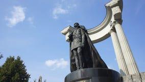 monument för alexander kejsare ii till stock video