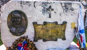 Monument för amiraler Ousakov i Korfu Grekland royaltyfri foto