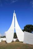 Monument för Cancun stadsstaty om Mexico historia royaltyfri bild