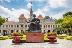 monument för chihominh till Royaltyfria Bilder