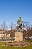 Monument för den tjeckiska målaren Josef Manes royaltyfri fotografi