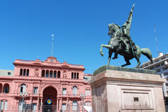 Monument för general Belgrano Royaltyfria Foton