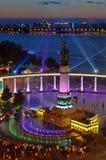 Monument för Harbin flodkontroll royaltyfri bild