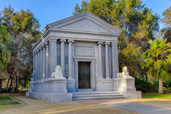 Monument för Henry Lathrop, broder till Jane Lathrop Stanford Royaltyfri Foto