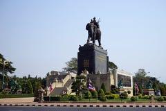 Monument för konung Rama I arkivfoto