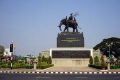 Monument för konung Rama I arkivfoton