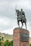 Monument för konung Tomislav Arkivbilder