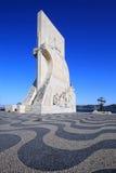 Monument för Padrao DOS Descobrimentos i Lissabon Arkivbilder