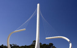 Monument för ringled (Rodoanel) i Sao Paulo Arkivbild