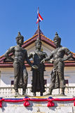 Monument för tre konungar, Chiang Mai Royaltyfri Fotografi