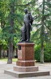 Monument of the Fabian Gottlieb von Bellingshausen in Kronstadt Royalty Free Stock Photography