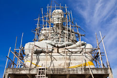 Monument of famous monk in Thailand Stock Photography