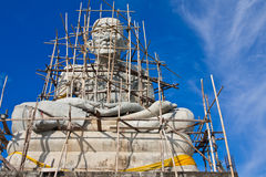 Monument of famous monk in Thailand Royalty Free Stock Photo