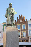 Monument of famous painter Hieronymus Bosch in s-Hertogenbosch. Stock Photography