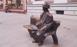 Monument of famous poet Tuwim Stock Image