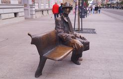 Monument of famous poet Tuwim Royalty Free Stock Photo