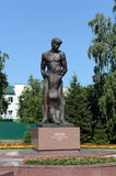 Monument `Farewell. The victims of political repressions dedicated`. BARNAUL, RUSSIA - JULY 13, 2015:Monument `Farewell. The victims of political repressions Royalty Free Stock Photo