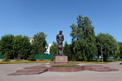 Monument `Farewell. The victims of political repressions dedicated`. BARNAUL, RUSSIA - JULY 13, 2015:Monument `Farewell. The victims of political repressions Stock Photo