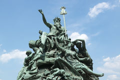 Monument Father Rhine Duesseldorf Royalty Free Stock Image