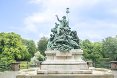 Monument Father Rhine Duesseldorf Royalty Free Stock Images