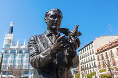 Monument of Federico Garcia Lorca in Madrid, Spain Royalty Free Stock Photography