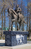 Monument of Fedor Boborykin in Kineshma, Russia Stock Photos