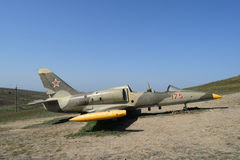 Monument of fighter aircraft near the Cossack village Ataman. Military hardware as a museum exhibit available for viewing. Open-ai Stock Photos