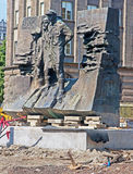Monument fighting Scouts Silesian in the center Katowice Royalty Free Stock Photo