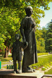 Monument of Finnish mothers with a child who survived the horrors of the 2nd World wa Stock Images