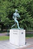 Monument Finnish runner Paavo Nurmi Stock Image