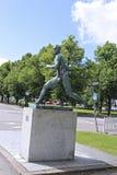Monument Finnish runner Paavo Nurmi Stock Photography
