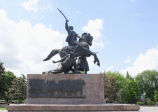 Monument `First of horsemen`-sculptor E. Vucetich Stock Image