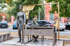 Monument first teacher. Belgorod. Russia Stock Images