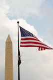 Monument and flag Royalty Free Stock Photos