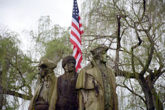 Monument with flag Stock Photo