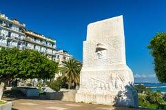 Monument in Flower Clock Garden in Algiers, Algeria stock photo
