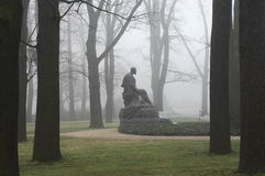 Monument in fog Royalty Free Stock Image