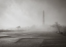 Monument in the fog Royalty Free Stock Photography