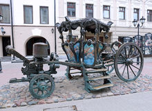A monument in the form of a carriage of Catherine II Stock Photo
