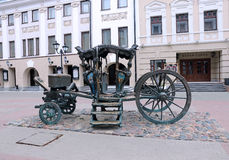 A monument in the form of a carriage of Catherine II Royalty Free Stock Photography
