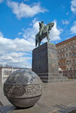 Monument of founder of Moscow - Yuri Dolgorukiy in Moscow Stock Photo