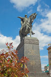 Monument of founder of Moscow - Yuri Dolgorukiy in Moscow Stock Image