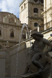 Monument fountains, Noto Stock Photo
