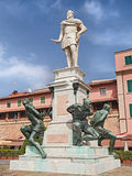 Monument of the Four Moors in Leghorn, Tuscany, Italy Stock Photography