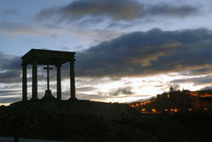 Monument of the four posts in Avila Royalty Free Stock Photography