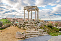 Monument Four Posts (Los Cuatro Postes) in Avila Stock Photos