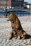 Monument of fox - beggar. Monument fox-beggar in the center of Stockholm, Sweden Royalty Free Stock Images